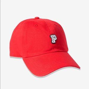 Victoria's Secret PINK Red Baseball Hat Adjustable
